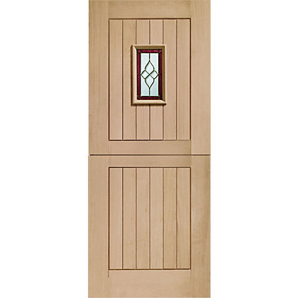 Image for Chancery Stable 1 Lite Oak External Door - 762mm Wide from StoreName