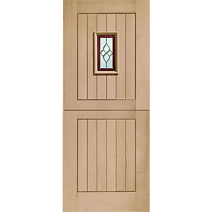 Image for Chancery Stable 1 Lite Oak External Door - 838mm Wide from StoreName