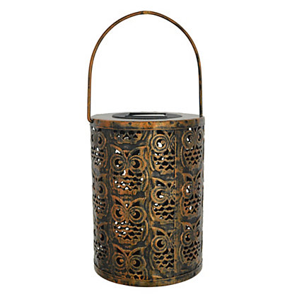 Image for Copper Owl Lantern from StoreName