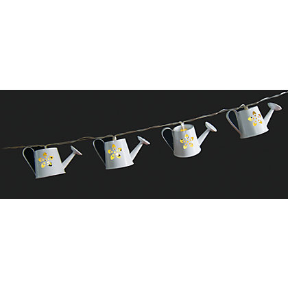 Image for 10 Watering Cans Solar String Lights from StoreName