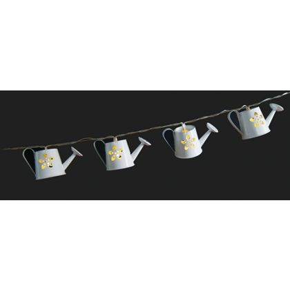 String Lights Homebase : 10 Watering Cans Solar String Lights