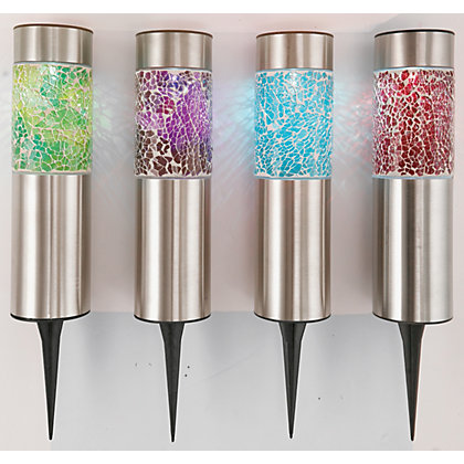 Image for Pack of 4 Solar Mosaic Bollards from StoreName