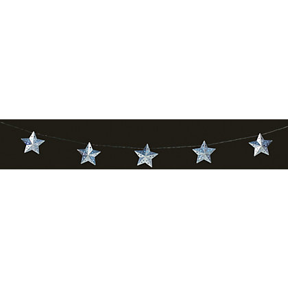 Image for 10 Metal Star Solar String Lights from StoreName