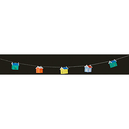 Image for 10 Nautical Beach Hut Solar String Lights from StoreName