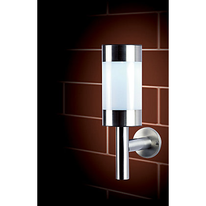 Image for Stainless Steel Frosted Solar Wall Light from StoreName