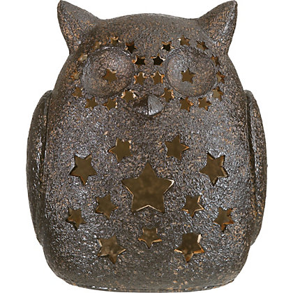 Image for Copper Effect Large Solar Owl Light from StoreName