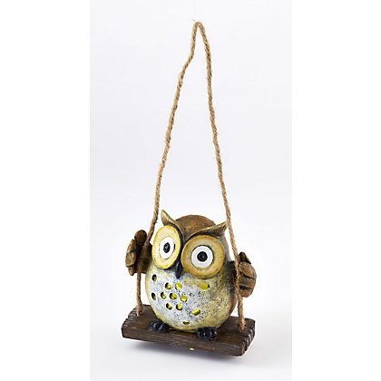 Image for Resin Owl Solar Light from StoreName