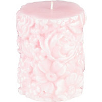 Heart of House Floral Textured Pillar Candle - Small