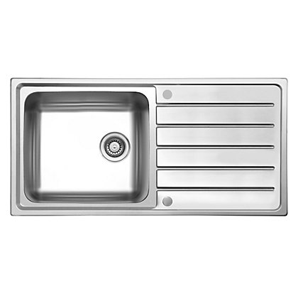 Image for Hygena ISK04 Reversible Inset Kitchen Sink - Single Bowl/Single Drainer from StoreName