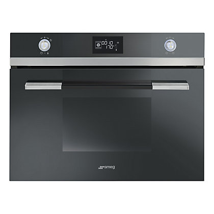 Image for Smeg SF4120VCN Linea Compact Combination Steam Oven - 45cm - Black from StoreName
