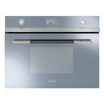 Image for Smeg SF4120VCS Linea Compact Combination Steam Oven - 45cm - Silver from StoreName