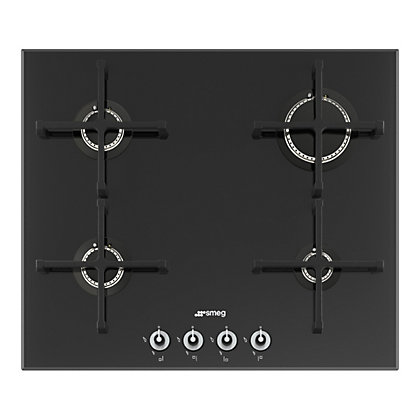 Image for Smeg PV164N Linea Gas on Glass Hob - 60cm from StoreName
