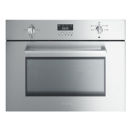 Image for Smeg SC445MX Built-in Cucina Compact Combination Microwave Oven - 45cm from StoreName