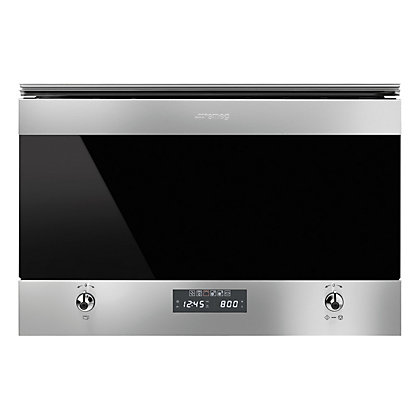 Image for Smeg MP6322X Classic Microwave Oven with Electric Grill - 59.5cm from StoreName