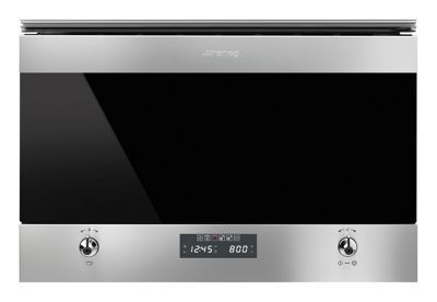 Image of Smeg MP6322X Classic Microwave Oven with Electric Grill - 59.5cm
