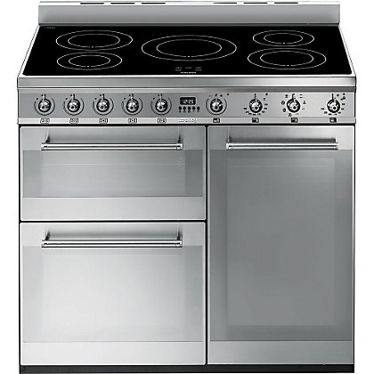 Image for Smeg SY93I Symphony Induction Range Cooker - 90cm - Stainless Steel from StoreName