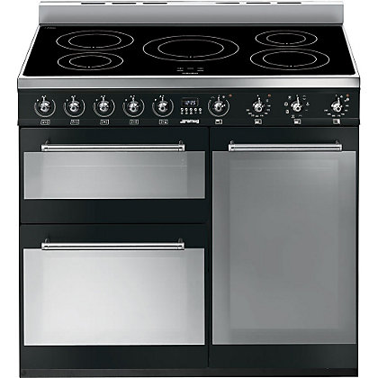 Image for Smeg SY93IBL Symphony Induction Range Cooker - 90cm - Black from StoreName