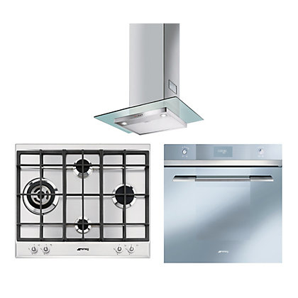 Image for Smeg Linea Pyrolitic Appliance Pack - Silver from StoreName