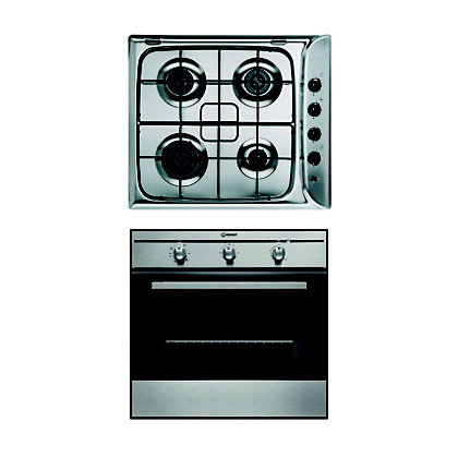 Image for Indesit FIM31K.AIX Oven & Indesit PIM640AST(IX) Gas Hob Package from StoreName