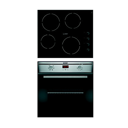 Image for Indesit FIMS53JK.AIX Oven & Indesit VRM640MC Ceramic Hob Package from StoreName