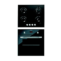 Indesit IFG63K.A(NR) Oven & Indesit IPG640S(BK) Gas Hob Package