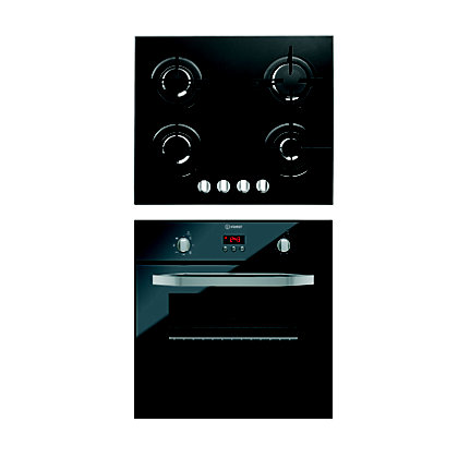 Image for Indesit IFG63K.A(NR) Oven & Indesit IPG640S(BK) Gas Hob Package from StoreName
