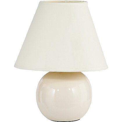 Image for Small Round Table Lamp - Cream - 22cm from StoreName
