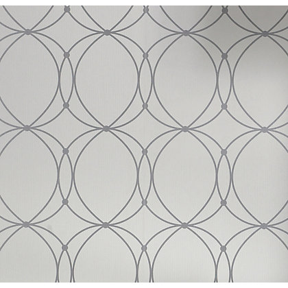 Image for Graham & Brown Darcy Pearl & Silver Wallpaper from StoreName