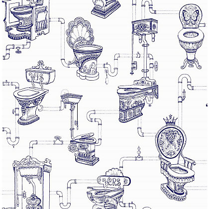 Image for Graham & Brown Loo Loo Blue Wallpaper from StoreName