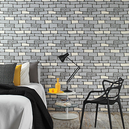 Image for Graham & Brown Hemingway The Wall Stone Wallpaper from StoreName