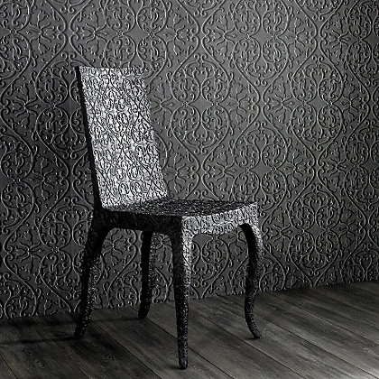 Image for Marcel Wanders Heart & Tulip Mahogany Wallpaper from StoreName