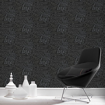 Image for Marcel Wanders Dreams Come True Black Wallpaper from StoreName