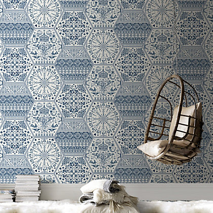 Image for Marcel Wanders World Heritage Blue Wallpaper from StoreName