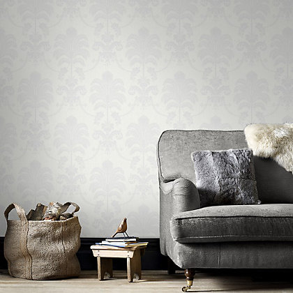 Image for Julian McDonald  La Palma White Wallpaper from StoreName