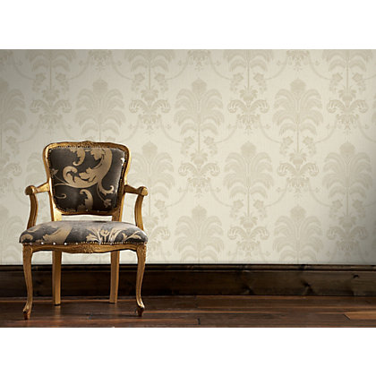 Image for Julian McDonald  La Palma Cream & Gold Wallpaper from StoreName