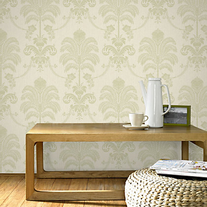 Image for Julian McDonald  La Palma Green & Cream Wallpaper from StoreName