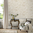 Julian McDonald  Gilded Feather Cream & Gold Wallpaper