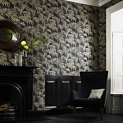 Image for Julian McDonald  Honolulu Black & Gold Wallpaper from StoreName