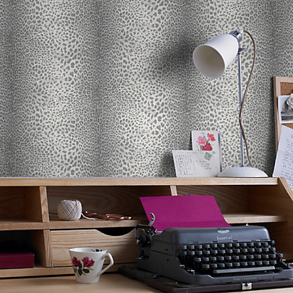 Image for Graham & Brown Leopard Grey Wallpaper from StoreName