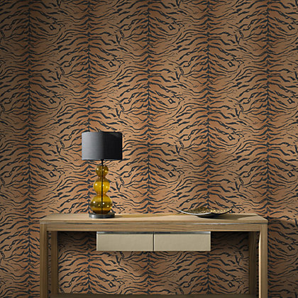 Image for Graham & Brown Tiger Skin Orange Wallpaper from StoreName