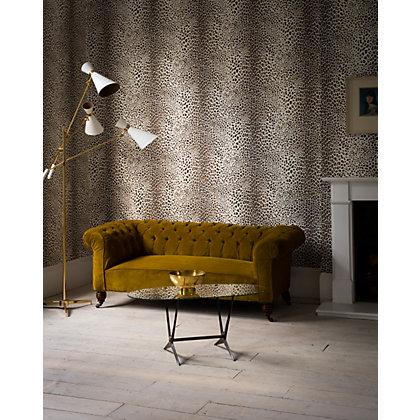 Image for Graham & Brown Leopard White & Beige Wallpaper from StoreName