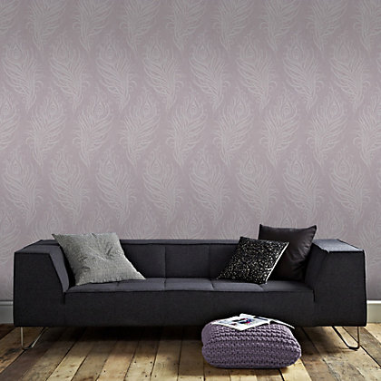 Image for Graham & Brown Artisan Quill Mulberry Wallpaper from StoreName