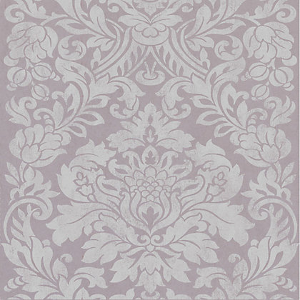 Image for Graham & Brown Artisan Gloriana Mulberry Wallpaper from StoreName