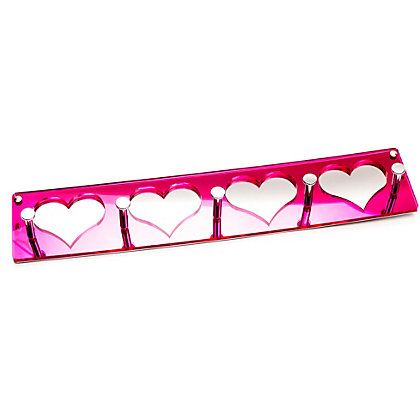 Image for Mirrored Hearts Coat Hook from StoreName