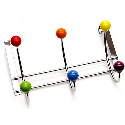 Image for Coloured Ball Over The Door Coat Hook from StoreName