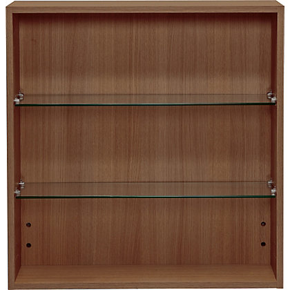 Schreiber fitted double wall unit walnut effect for 200mm kitchen wall unit