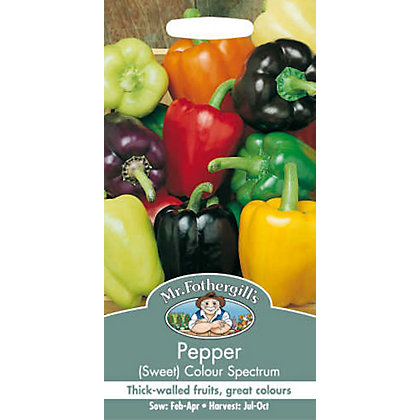 Image for Sweet Pepper Colour Spectrum (Capsicum Annuus) Seeds from StoreName