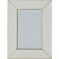 Cream and Gold Metal Frame 4 x 6in