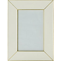 Cream and Gold Metal Frame 5 x 7in