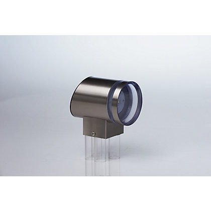 Image for Cylinder Stainless Steel Solar Wall Light from StoreName